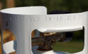 propane tank tare weight
