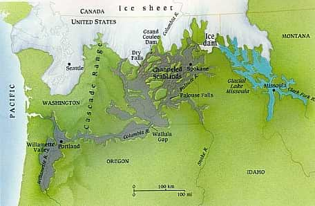 western Ice Sheet at the time of the Flood and the Flood area