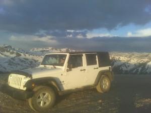 jeep on mountain