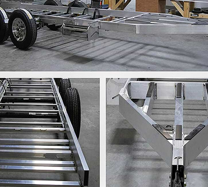 travel trailers aluminum chassis frame