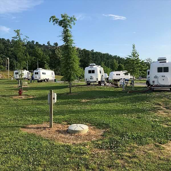 oliver rally campers campsite