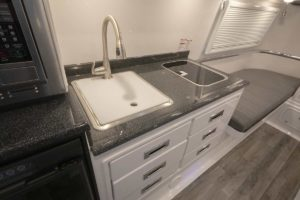 Kitchen Galley with Sink Cover