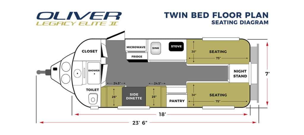 elite 2 twin bed seating floor plan