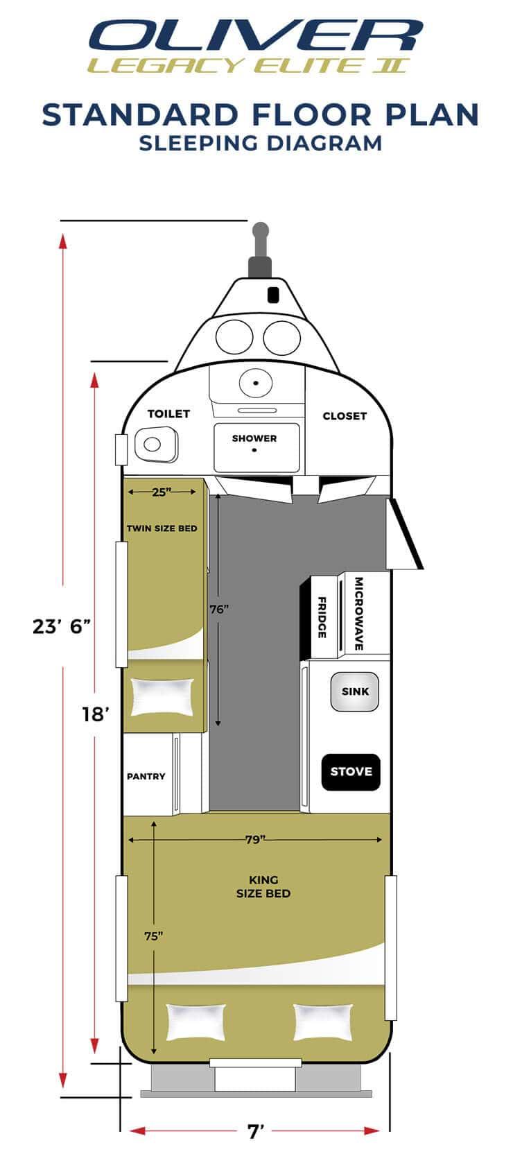 elite 2 standard sleeping floor plan