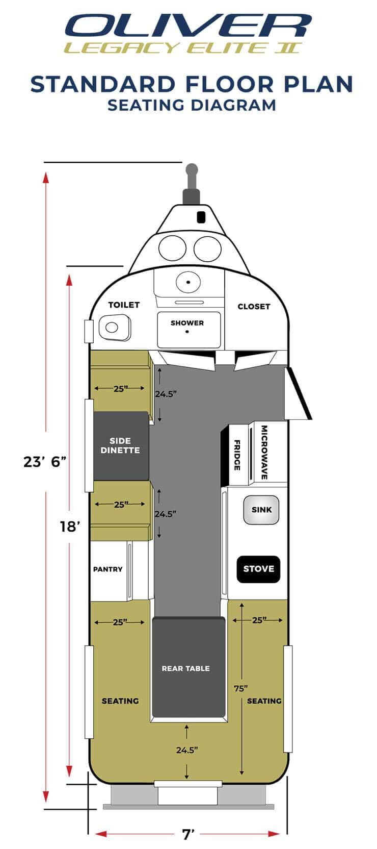 elite 2 standard seating floor plan