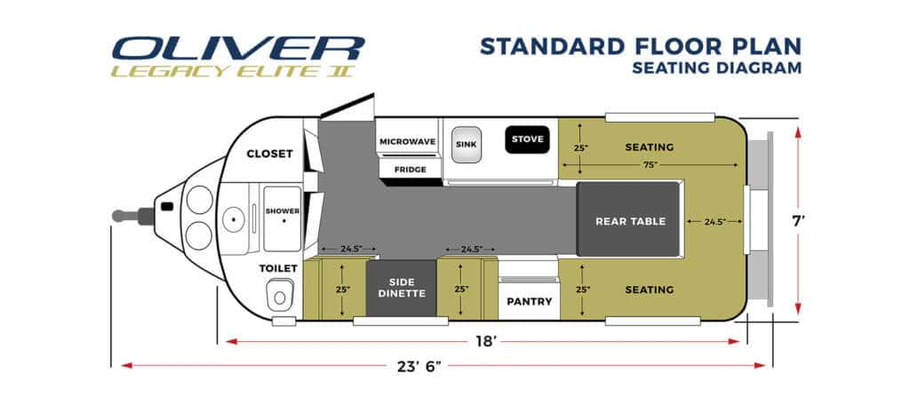 elite 2 standard seating floor plan