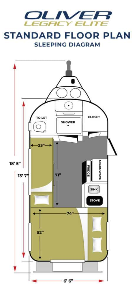 Elite Standard Floor Plan Sleeping
