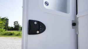 Door with Door Keypad Lock