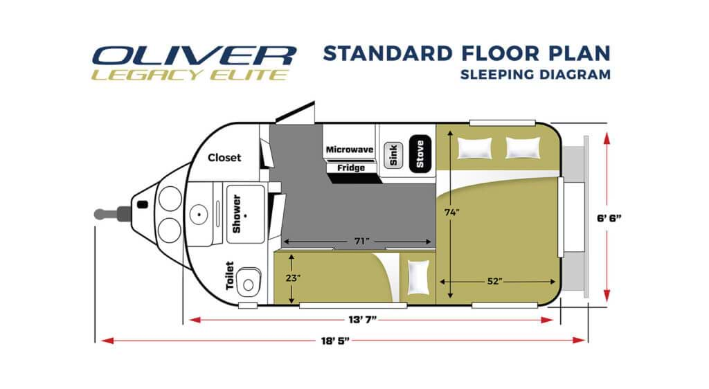 legacy elite RV standard floor plan sleep mode