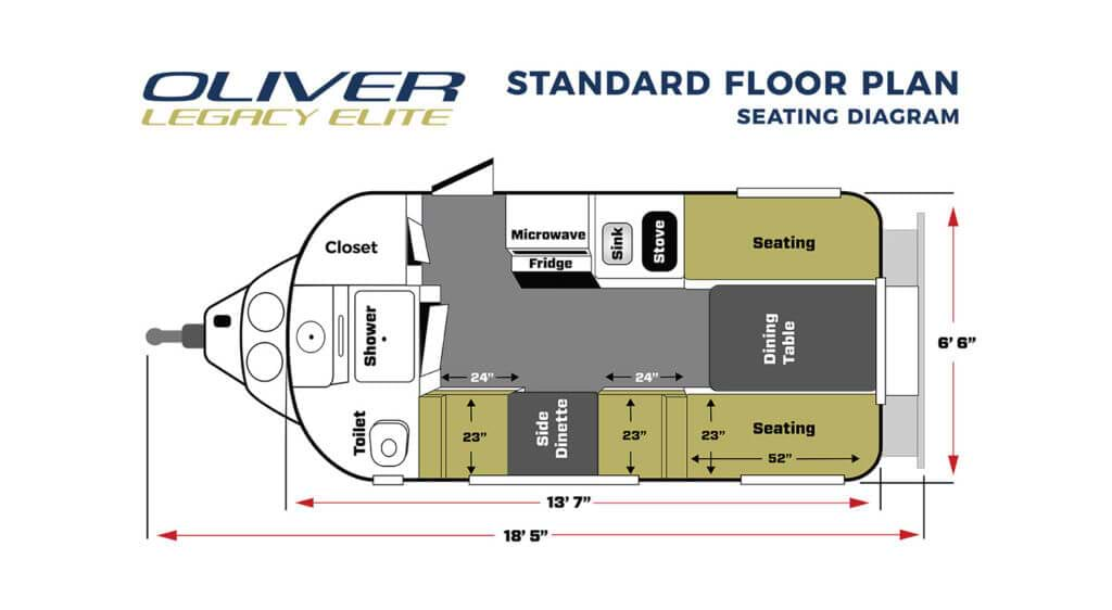 legacy elite RV standard floor plan seat mode