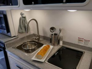 Kitchen Galley View for Camper Trailer