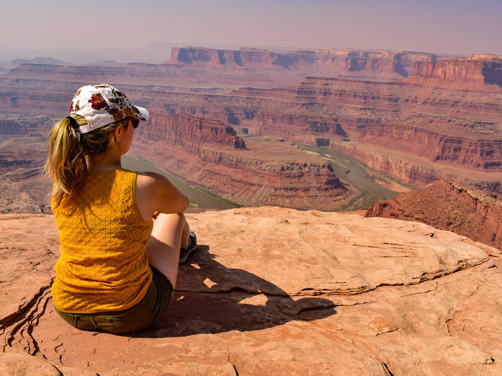Tourist Woman Sited At Dead Horse Point State Park