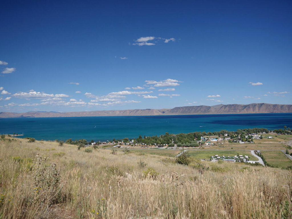 Upper view of the Bear Lake Utah State Park