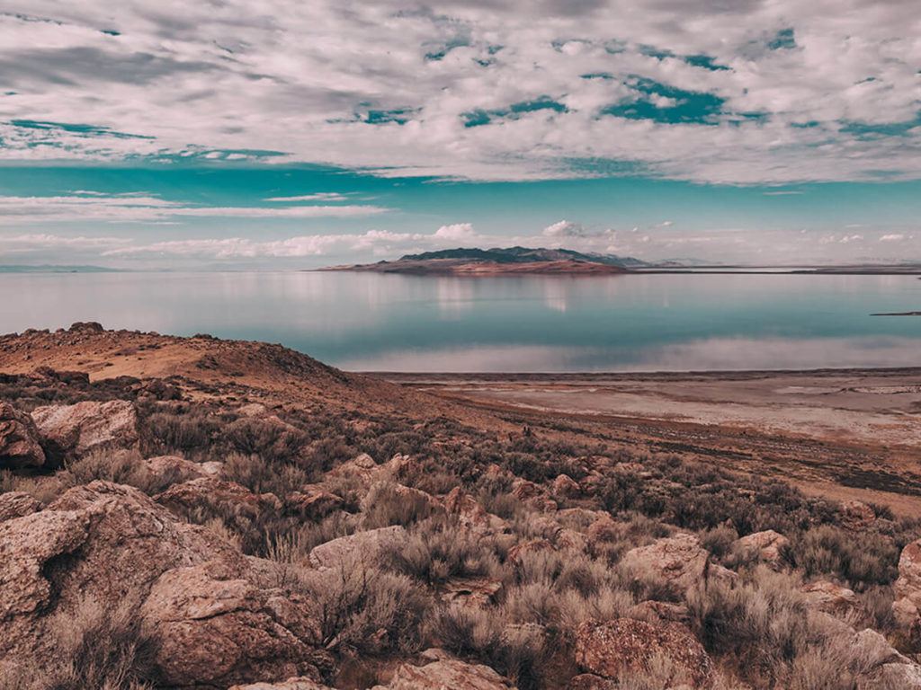 Views Of Great Salt Lake At Antelope Island State Park