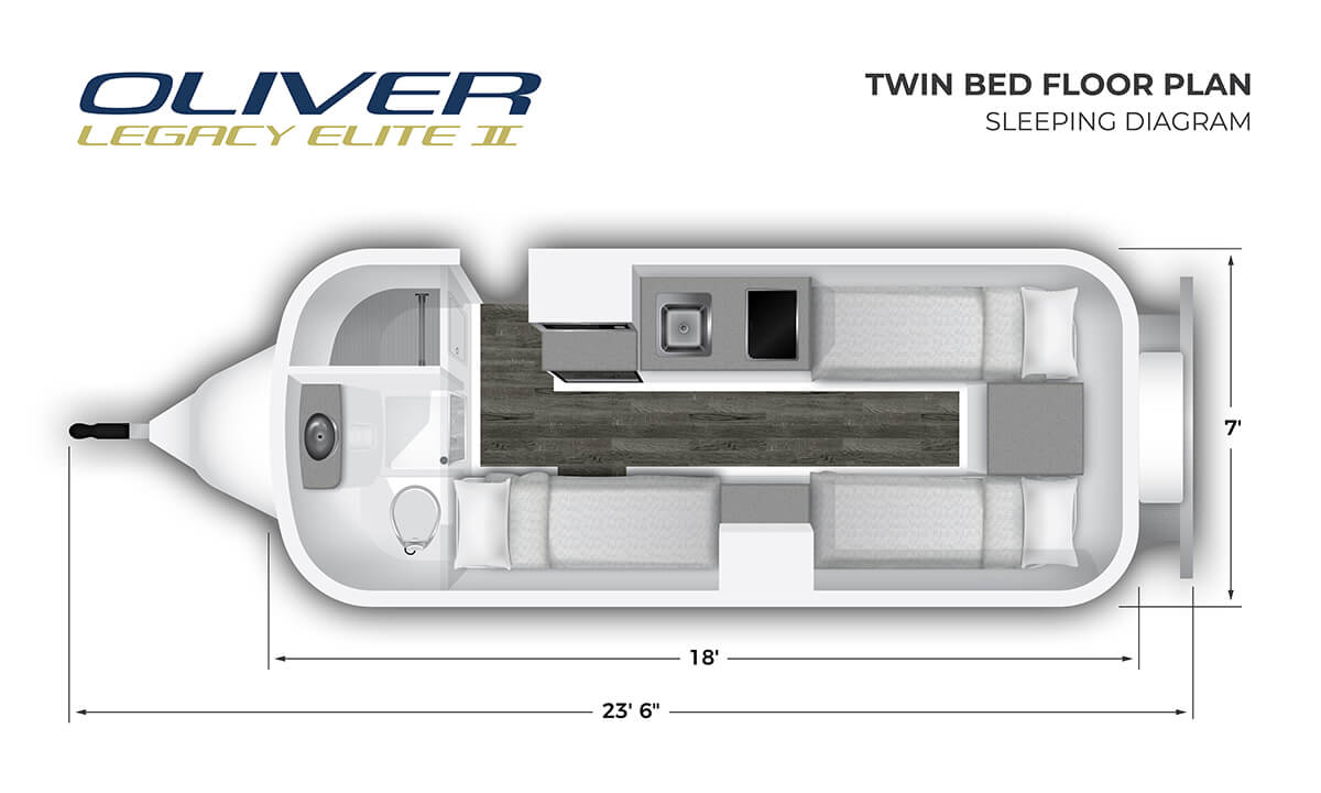 2020 Elite II Twin Bed Sleeping