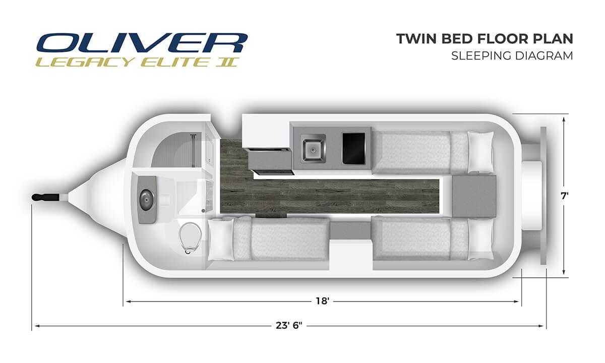 2020 Elite II Twin Bed Sleeping