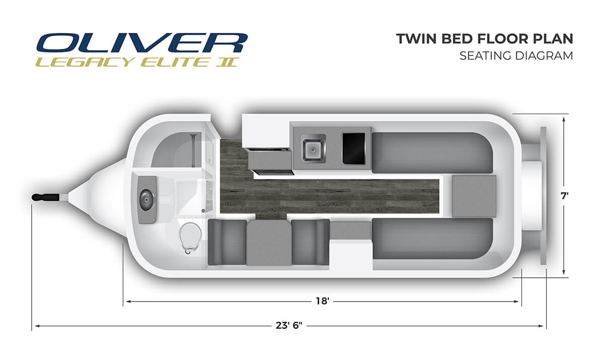 2020 Elite II Twin Bed Seating