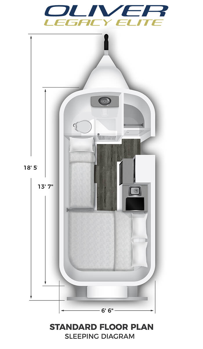 Elite Standard Floor Plan Sleeping