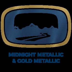 Midnight Metallic & Gold Metallic