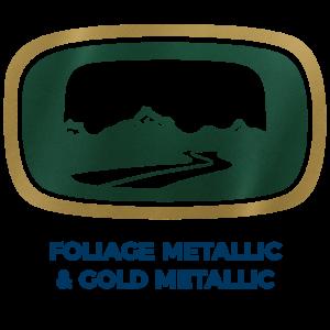 Foliage Green Metallic & Gold Metallic