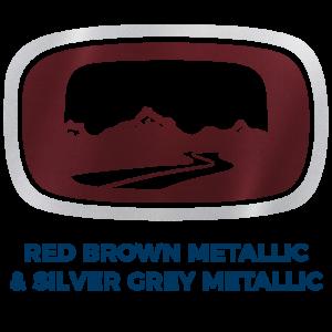 Red Brown Metallic & Silver Grey Metallic