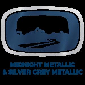 Midnight Metallic & Silver Grey Metallic