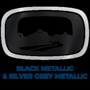 Black Metallic & Silver Grey Metallic